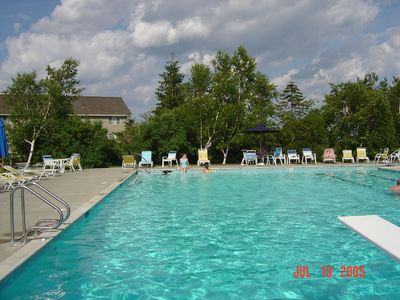 Heated pool - July & August