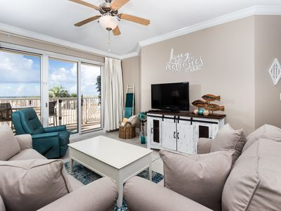 Photo for Newly Redecorated for 2019 First Floor, Beachfront Condo! FREE Beach Service!