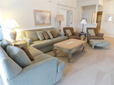 Photo for Peaceful Golf Views, In an Elevator Building! Luxurious Barefoot Resort Property