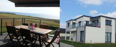 Photo for New comfortable villa with panoramic sea view, Plomodiern - Beach of Pors ar vag