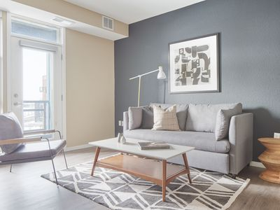 Photo for Sonder | District 600 | Charming 1BR + Balcony