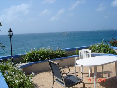 Photo for Spacious seaside family villa with spectacular views of the island and ocean