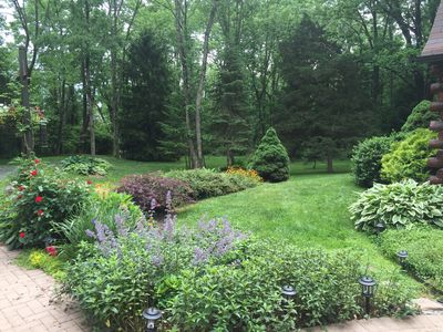 View from the front porch. Enjoy your own private park.