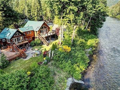 Photo for River Front Retreat down the road from Stevens Pass