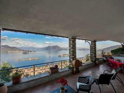 Photo for Panorama apartment in panoramic position over Stresa with amazing lake view