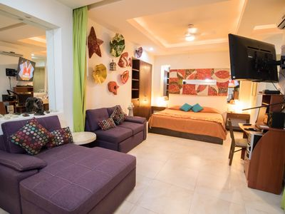Photo for Wonderful studio V399-108 in the Romantic Zone, walking distance to the beach!