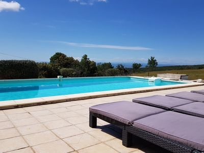 Photo for Villa with private heated pool, jacuzzi and stunning views, near Minerve