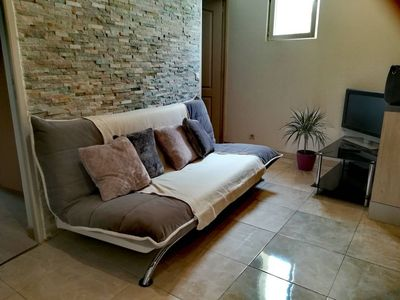 Photo for 3 rooms at 50m from the sea, completely renovated
