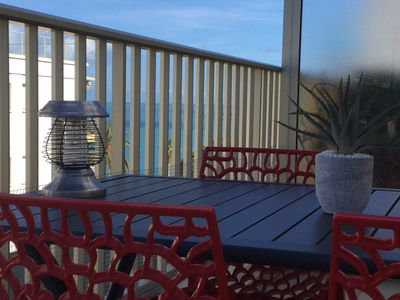 Photo for Very nice T2 on the beach Penthouse, terrasse25 m2 private -Park Wireless