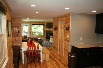 view from the kitchen, large space great for families and large groups