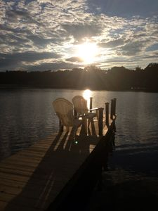 On private Dock - Gorgeous sunsets