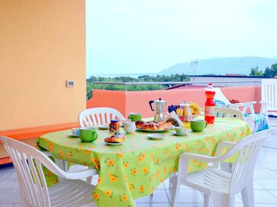 Photo for Beautiful Villa Ivana 2 lots of sun and green, near the beach, climate, wi-fi free.
