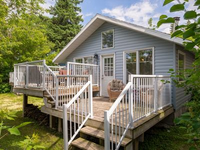 Photo for GORGEOUS Cape Cod Flare cottage directly across from Sylvan Lake/Beach