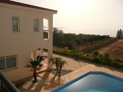 Photo for Private Villa in Argaka with own pool. Clear views of sea and mountains. WiFi.