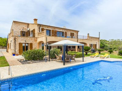 Photo for Natural stone villa with stunning views and pool - Casa Delfin Blanco