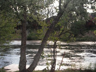On the river. Beautiful view! Centrally located and quiet street! Best of Bend.