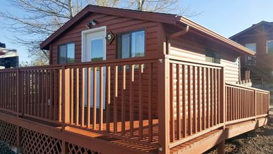 Photo for Cabin 5- Handicap accessible cabin with bathroom (Sleeps up to 6)