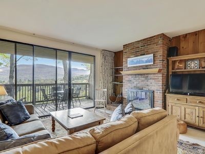 Photo for Spacious Notchbrook Condo with Mountain Views, Pool and Walking trails
