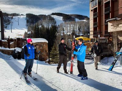 Photo for Chic Ski-in/Ski-out Vail 2 Bedroom Condo. Ground Level, Hot Tub, Pool