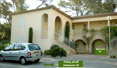 Photo for IN BASTIDE T2 1 BEDROOM IN GROUND GARDEN + SWIMMING POOL + PARKING A 100 M BEACH SAND END