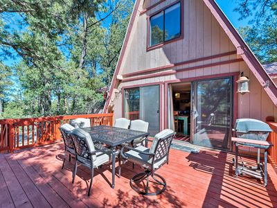 Photo for NEW! Secluded Cabin w/ Deck 3 Miles to DT Ruidoso!
