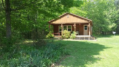 Photo for Attractive, cabin in scenic woods with hiking trails. Horseback Riding Available