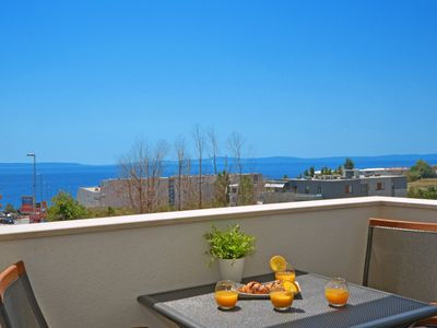 Photo for Luxury Apartment Ivana with two rooms, two bathrooms and sea view balcony