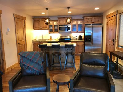 Photo for 1 Bedroom Luxury Couples Retreat steps from the lift! Skiing | Golf | Pool