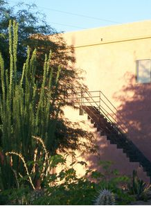 The walk-up to Casita Sunrise; 2nd floor offers spectacular views