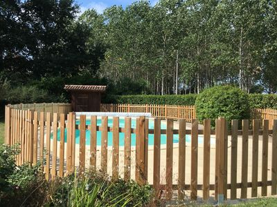 Photo for Beautiful group cottage in the heart of the Gironde forest