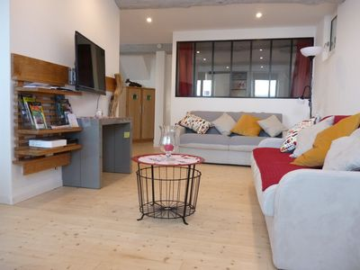 Photo for CIBOURE / SAINT-JEAN-DE-LUZ, large apartment 3 * + private garage. Ground floor. Easy access.