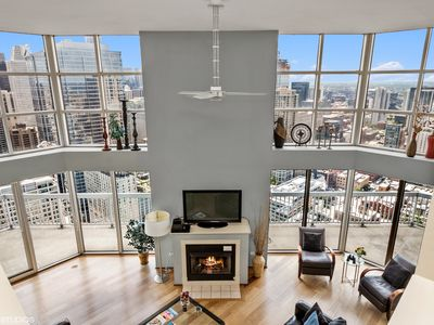 Photo for 53/54th Floor  MagMile Penthouse - Fitness Center, VIEWS, Fireplace, Balcony