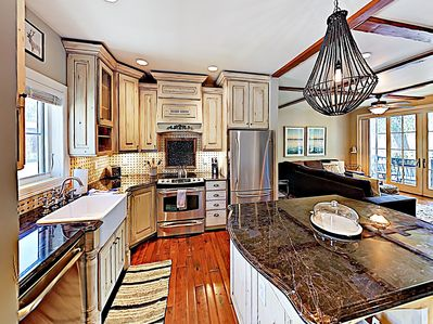 Kitchen - The open layout offers a great flow for entertaining.