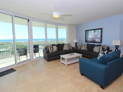 Photo for Caribe D412- Gulf View w/ Large Terrace, Lazy River + Pool Slides!