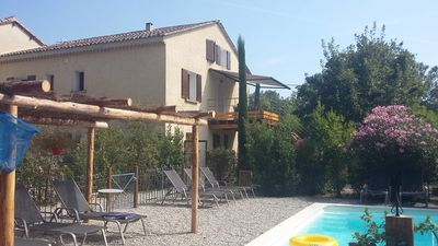 Photo for A charming cottage, with private pool, at the foot of Mont Ventoux