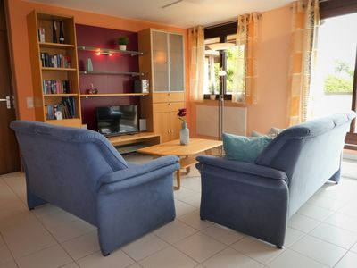 Photo for 4 *, cozy and quiet apartment with views of mountains and Lake Constance