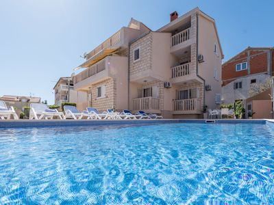 Photo for This 5-bedroom villa for up to 14 guests is located in Žaborić/Zaboric and has a private swimming po