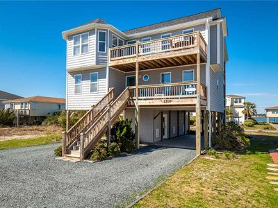 Photo for BOTH SIDES NOW: 4 BR / 3.5 BA Sleeps 8, sound views, den, Topsail Beach