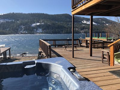 view from the hottub  so perfect!!