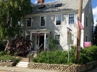 Photo for Courtyard apartment and beautiful gardens is a hidden gem on Main Street