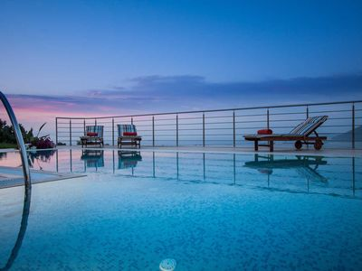 Photo for Luxury stone-made villa with exceptional view & pool