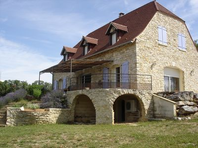 Photo for house between Lot and Périgord 8 people swimming pool