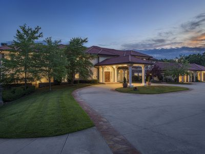Photo for 17500sqft PRIVATE ESTATE~IndoorPool/HotTub~BIG LAKEVIEW~Tennis Court~Theater~SDC