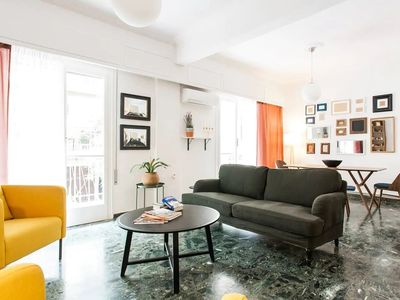 Photo for 110m2 Central Bright apartment in Athens