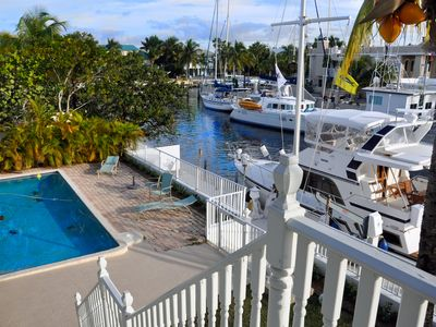 Photo for Water Front Large Two Story Home with Private 75 Feet Dock on Port Largo, KL