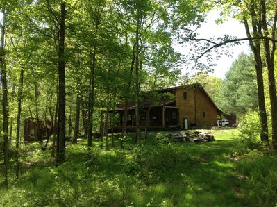 Cabin looking into 6200 Acres of State Forest