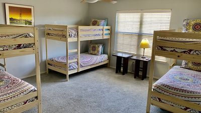 bunk loft sleeps 6 and has a separate staircase on the end of the house