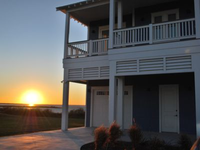 Photo for Brand new home located directly on Galveston Bay in Pointe West Resort.