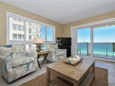 Photo for BEACHFRONT, COASTAL condo! Features PRIVATE BALCONY located in gated community!