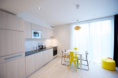 Rue Garibaldi One Bedroom Apt Sleeps 5 - Kitchen With Dining